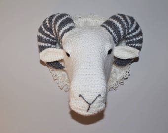 Trophy RAM crochet decoration