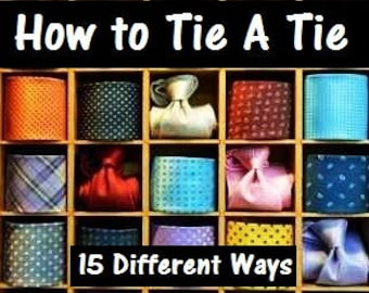 Tie the knot poster etsy how to tie a tie 15 different ways pdf instant download booklet and ccuart Choice Image