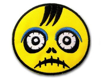 Zombie Ghost Kid Patch Iron on Embroidered Applique Cartoon Sew Animation Comics Vest T-Shirt Badge Biker Racing Jacket Skull Children