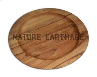 olive wood Round dish  7.1 / 5.5 inch