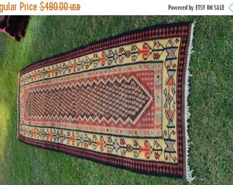 FUTHER SALE 40% DISCOUNT Antique Famous Sennah Pattern Turkish Runner
