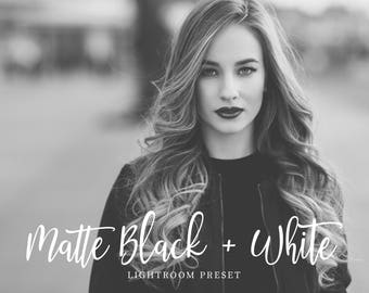 Matte Black + White Adobe Lightroom Preset