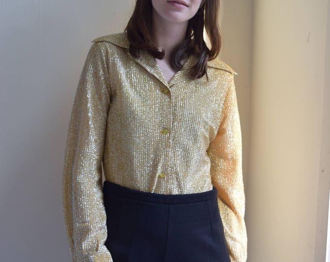 Gatsby Gold Glitter Collared Bodysuit
