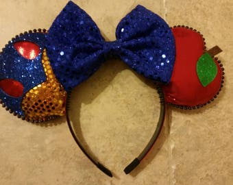 Snow White Inspired Mickey Ears