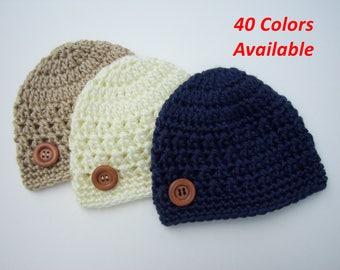 Newborn Hat, Children's Hat, Winter Hat, Toddler Hat, Baby Shower Gift, Newborn Photo Prop, Baby Boy Hat, Baby Girl Hat, Crochet Baby Hat