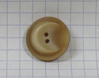 Vintage glazed brown color, diam 17 mm, set of 7 buttons