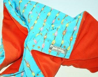 Baby Bird Blanket, Tweet Bird Baby Blanket, Bird Duvet, Bird Bedding, Baby Blanket, Baby Bedding, Fleece Baby Blanket, Tree House Blanket