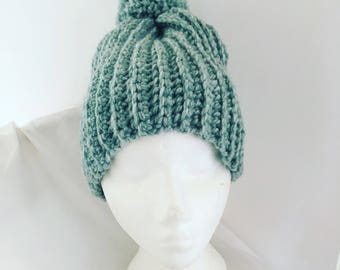 Adult Crochet Bobble Hat