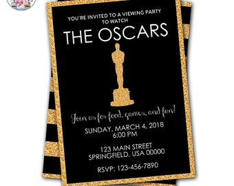 Oscar Party Invitation, Editable Oscar Party Invitation, Academy Awards, Academy Awards Party, Oscars