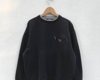 20% OFF Vintage Fila Embroidery Logo Sweatshirt/Fila Sweater/Casual Clothing/Fila Sport Sweater/Fila Italia
