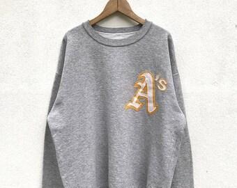 20% OFF Vintage OAKLAND Athletics Sweatshirt / Oakland A's Sweater / Baseball Clothing / American Baseball