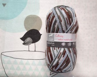 WOOL BABYLUX COLOR Brown mix - white horse