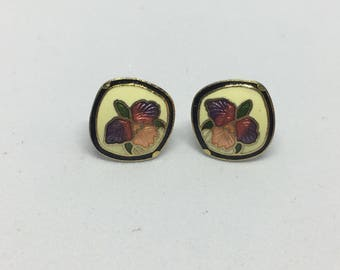 Vintage Orchid Stud Earrings