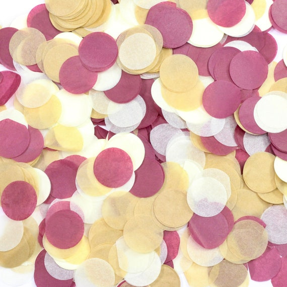 Merlot Confetti, Burgundy Beige Confetti, Shred, Table Decor, Confetti Balloon, First Birthday, Baby Shower, Wedding Decor, Rose Gold Decor