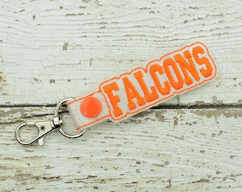 Falcons Keychain - Bag Tag - Small Gift - Gift for Her - Thank You Gift - Bag Accessory - Zipper Pull - Team Spirit