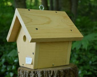 Bird House for Small Birds Made from Repurposed Wood (#20172)
