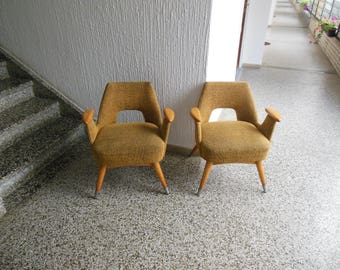 Lovely pair of mid century designers armchairs 1950s