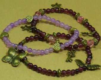 Purple Butterfly bracelets