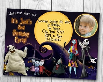 The Nightmare Before Christmas Invitation - The Nightmare Before Christmas Birthday Party - Halloween invitation