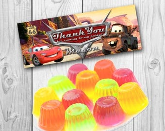 Cars Favor Bag Toppers - Cars Treat Bag Topper - Cars Candy Bag - Cars Birthday Party
