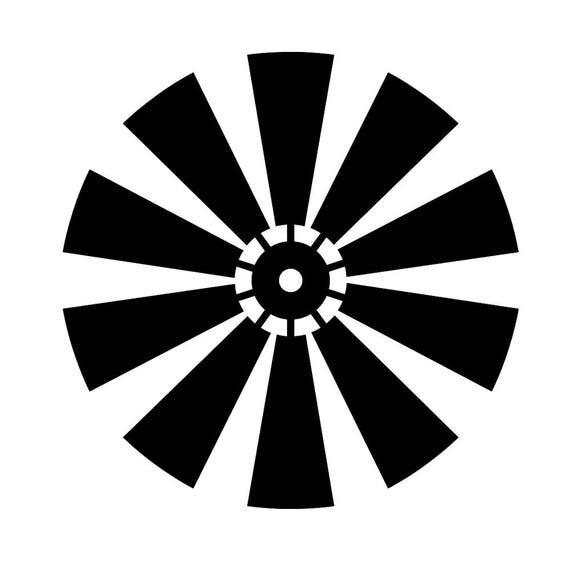 Fan Blade Outline : Moulin à vent ferme svg fichier couteaux
