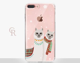 Alpaca iPhone X Case Clear  - Clear Case - For iPhone 8 - iPhone X - iPhone 7 Plus - iPhone 6 - iPhone 6S - iPhone SE Transparent Samsung S8