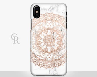 Rose Gold Mandala iPhone X Case For iPhone 8 iPhone 8 Plus - iPhone X - iPhone 7 Plus - iPhone 6 - iPhone 6S - iPhone SE - Samsung S8