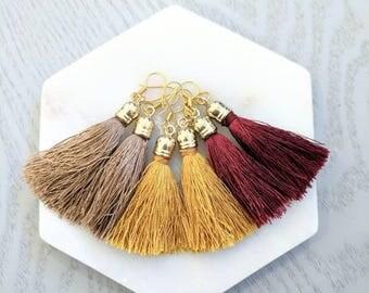 Mini Cap Tassel Earrings