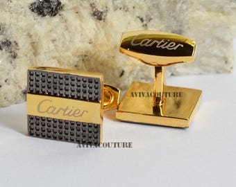 Cartier Cufflinks in Yellow Gold Plated Men's Jewelry New