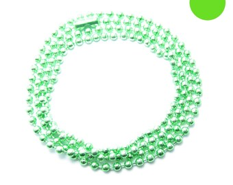 NECKLACE 60cm ball chain 2.5 mm Apple green