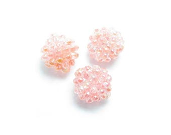 9.5 mm textured Pearl Pearly pink