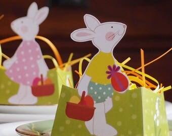 Printable bonbonnière lapin de Pâques, décoration table Pâques, décor lapin, sweet box, candy box, Easter bunnies decoration, printemps