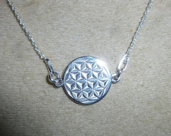 Flower of life silver necklace 925 th