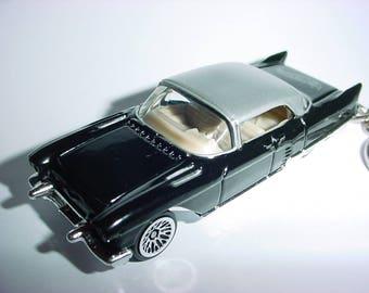 3D 1957 Cadillac Eldorado Broughham custom keychain by Brian Thornton keyring key chain finished in blue/silver 57
