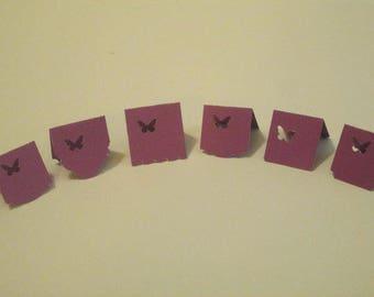 Set of 8 Mini Tags ~ Purple Butterfly - Digital Download