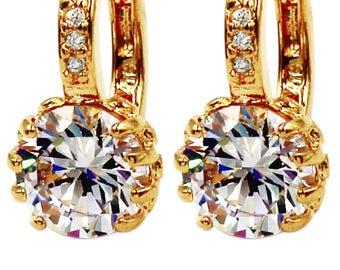 Fashion crystal ball earrings