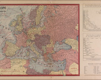 Poster, Many Sizes Available; Wwi Map Of Europe & Force Size 1917