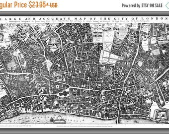 20% Off Sale - Poster, Many Sizes Available; City Of London Ogilby And Morgan'S Map Of 1677