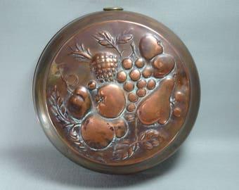 Vintage Swedish Copper Fruit Mold
