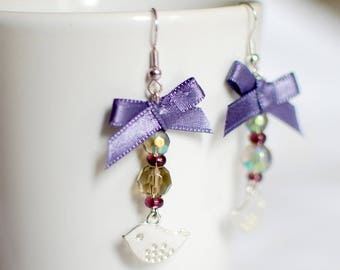 Purple Sparrow - earrings for women