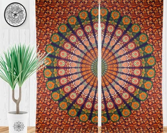 Superior Boho Curtain, Gypsy Curtains, Hippie Window Treatment, Tapestry Curtains  For Living Rooms