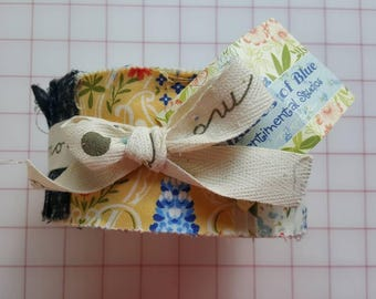 Shades of Blue Jelly Roll by Sentimental Studios for Moda, OOP & VHTF