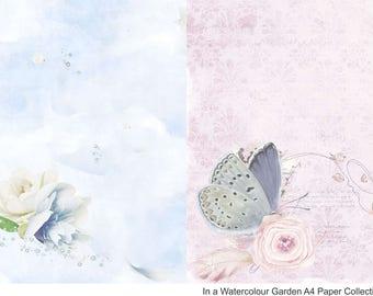 In the Watercolour Garden A4s