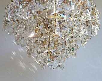 A very rare vintage high quality kinkeldey crystal chandelier