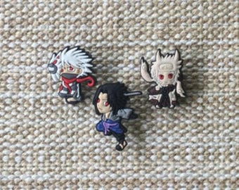 Lot 6 jibbitz (badges for fangs) Naruto