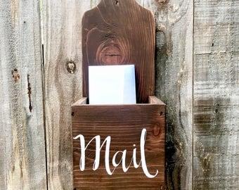 Rustic Mail Box, Wall Mount Mail Box