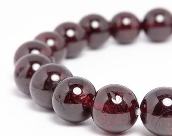 8mm Garnet Stretch Bracelet