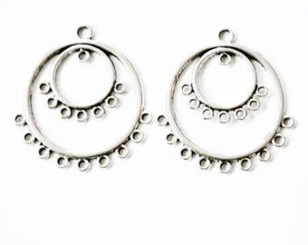 Connectors earrings or sterling silver