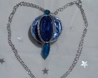 Necklace with Nespresso capsules blue ball