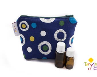 Small Essential Oil Carry Case, Big Dots Purse Saver, Young Living Oil Case, doTerra Storage Bag, Essential Oils Storage, Oils Travel Case